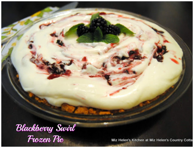 Blackberry Swirl Frozen Pie