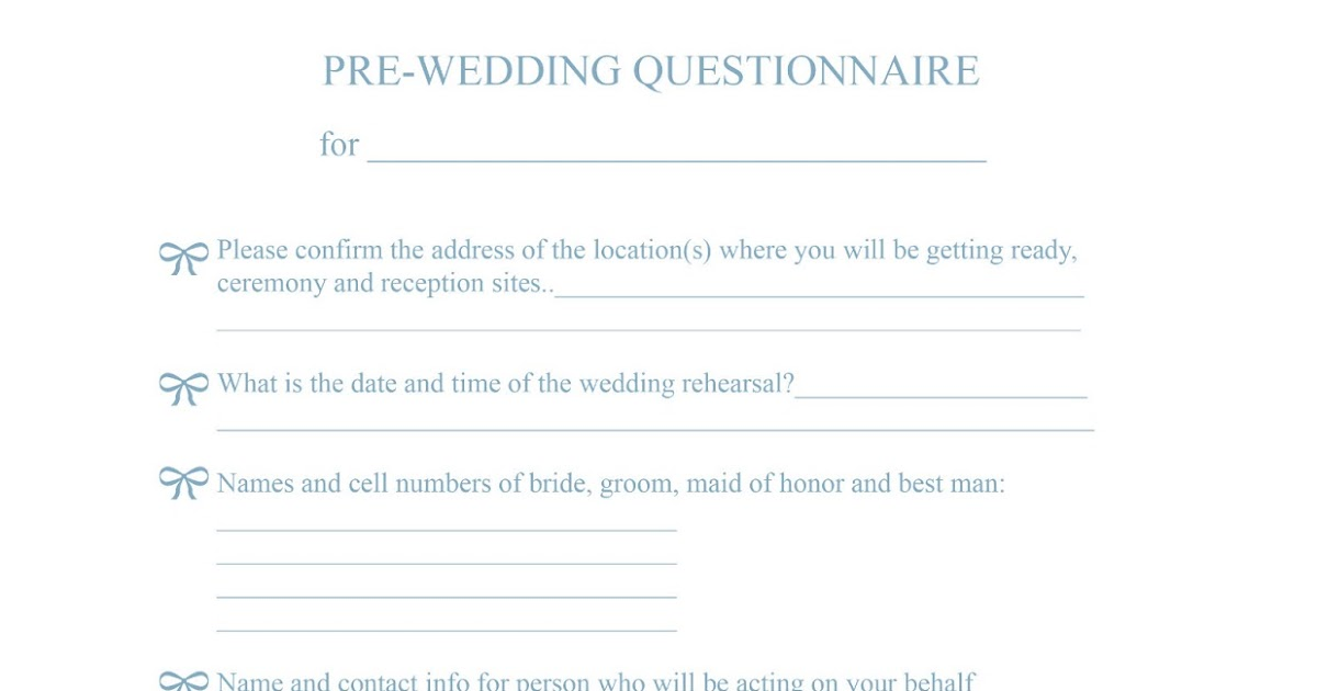 Pre Wedding Consultation Form For Photographers Angelhouse Photography