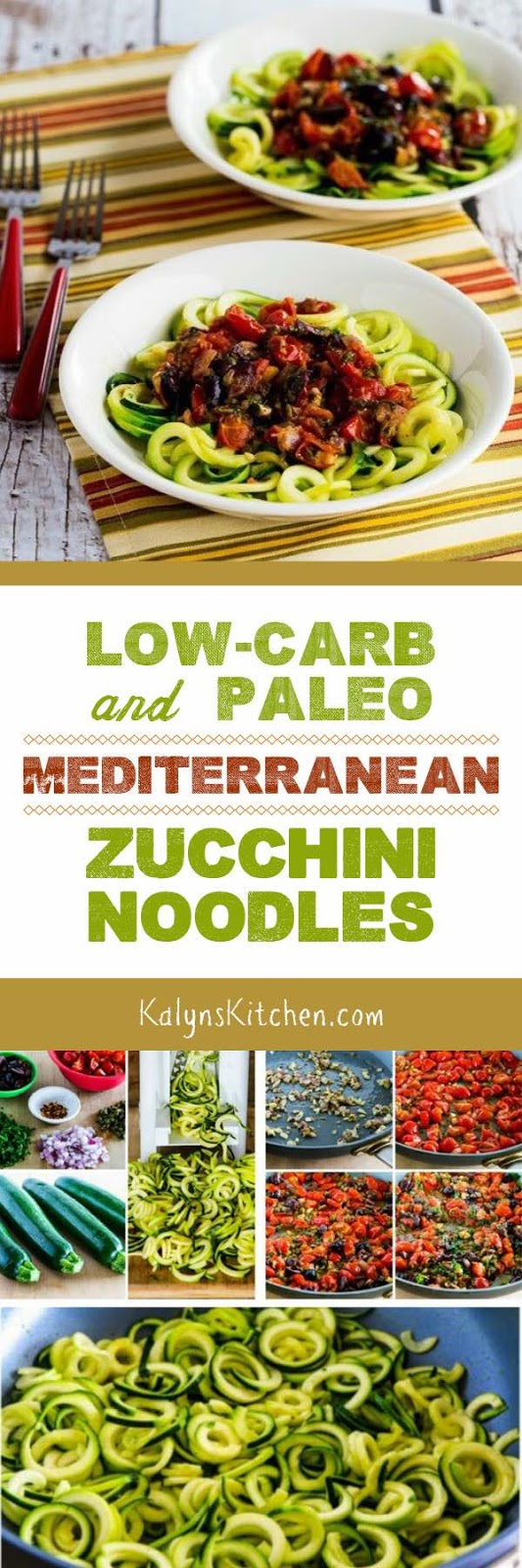 Kalyn's Kitchen®: Low-Carb and Paleo Mediterranean Zucchini Noodles