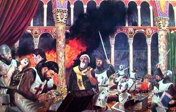 the sack of hagia sophia by crusader