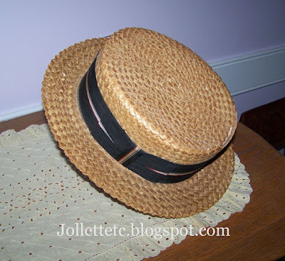 Granddaddy's straw hat https://jollettetc.blogspot.com