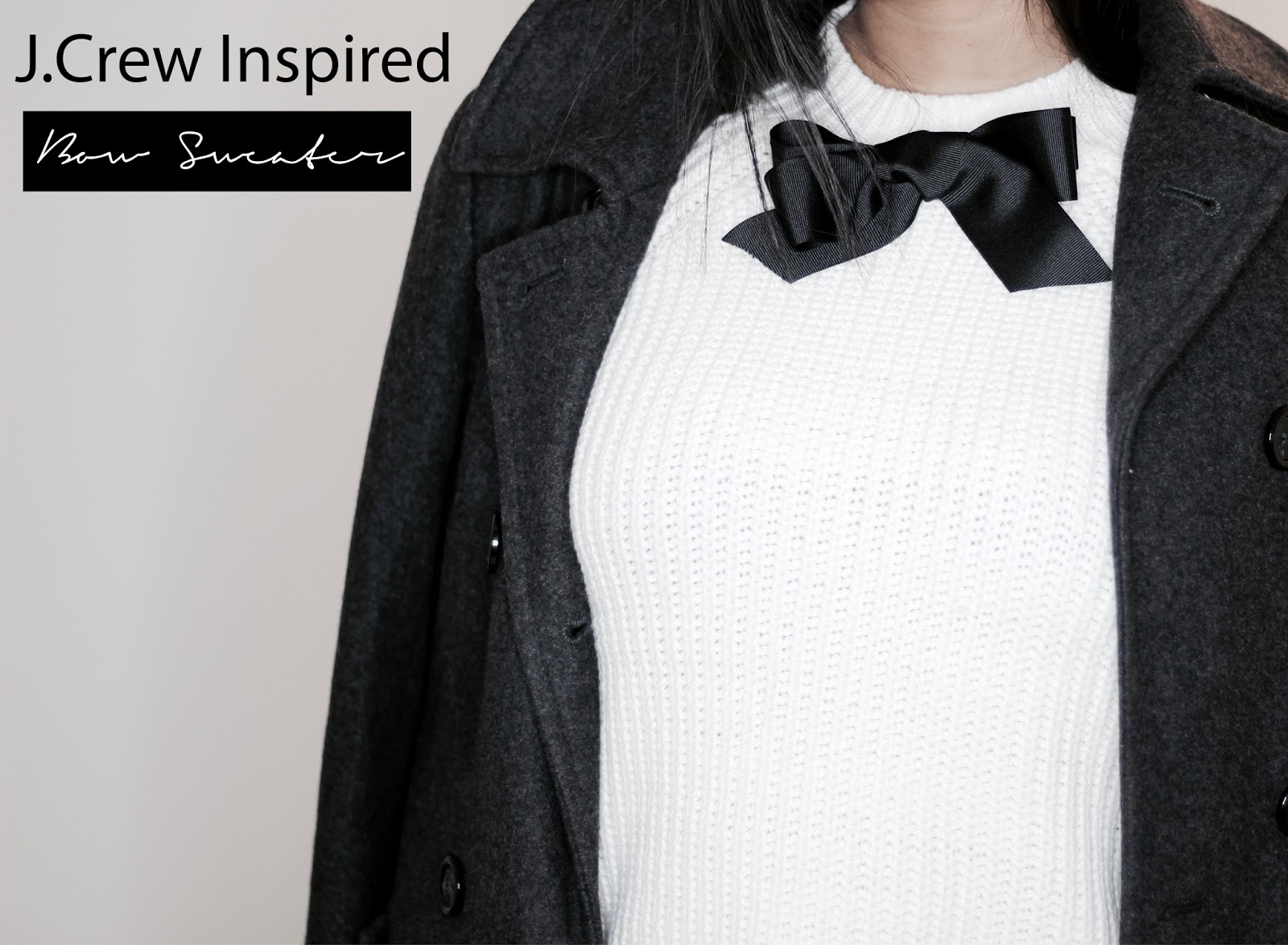 DIY J.Crew Inspired Bow Sweater || #blogmas Day 3