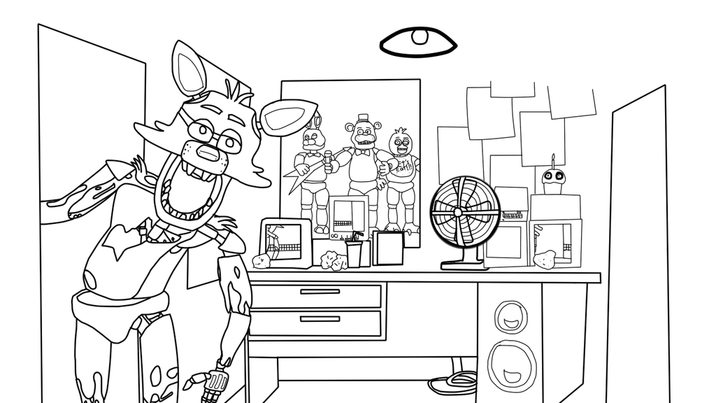 fnaf cute animatronics coloring pages - photo #30