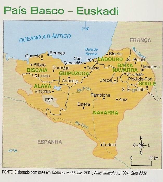 pais basco mapa Blog do Prof. Alexandre: Geografia: o País Basco. pais basco mapa