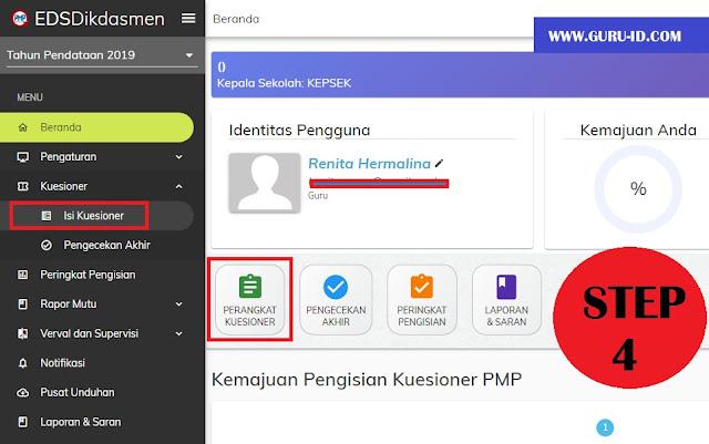 gambar cara mengisi kuesioner PMP online 2019