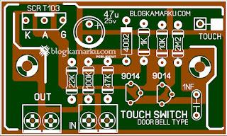 PCB Layout Touch Bell Door Bell Type Komplit dengan Skema