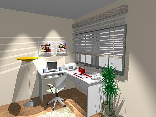 Ambientes & Ideias Home Offices ~ Quarto Planejado Com Mesa De Estudo