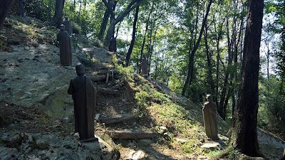 Statues at Maria Ausiliatrice del Monte Misma