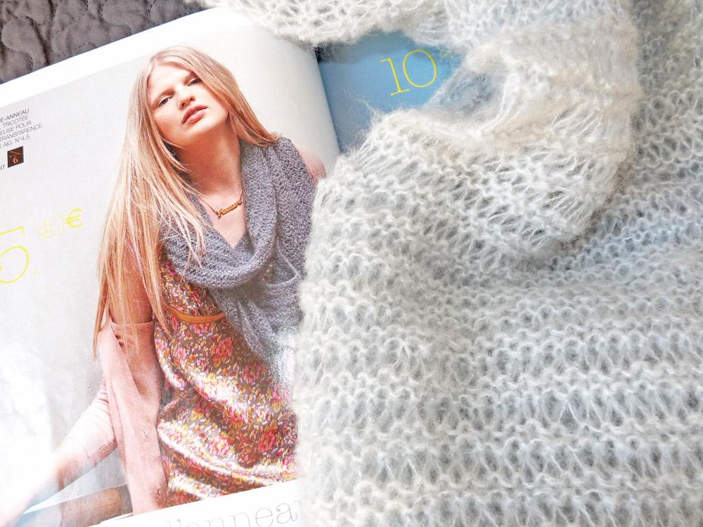 point liseuse au tricot