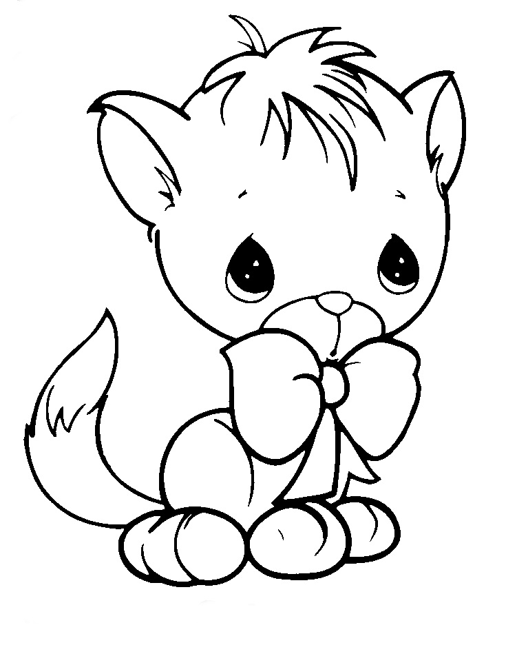 Coloring pages of puppies and kittys ~ Riscos graciosos (Cute Drawings): Riscos de felinos ...