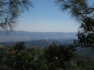 View across the valley from the highest legal access on Mt. Umunhum