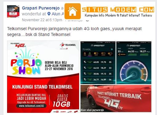 Wow Jaringan 4G LTE Telkomsel Selimuti Wilayah Purworejo, Jawa Tengah