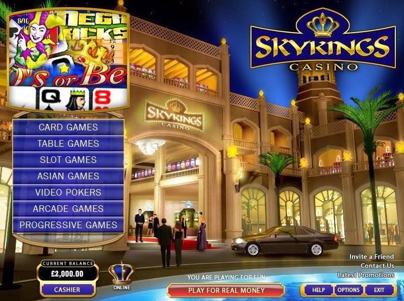 Skyking Casino Roulette Screen