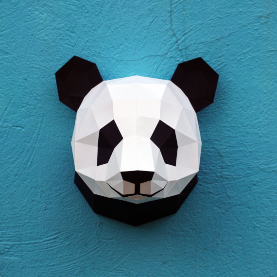 El Yapımı Origami Panda Duvar Süsü Etsy