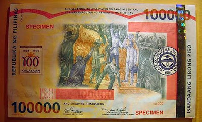 Have You Know that We Have  P100,000 bill? How About P2000 Bill? These Are How They Look Like