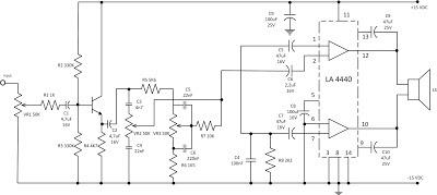 Elektro Jiwaku: Amplifier LA4440 BTL Mono
