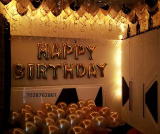 romantic decoration for birthday