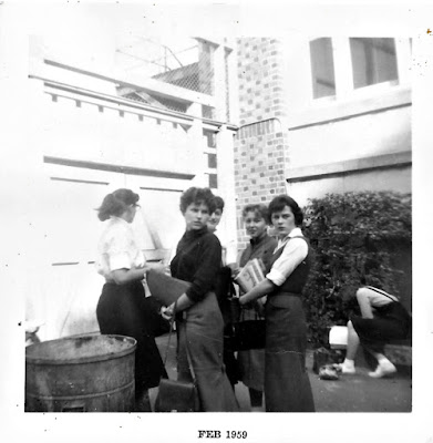 High School girls on a break at Lowell High School in 1959