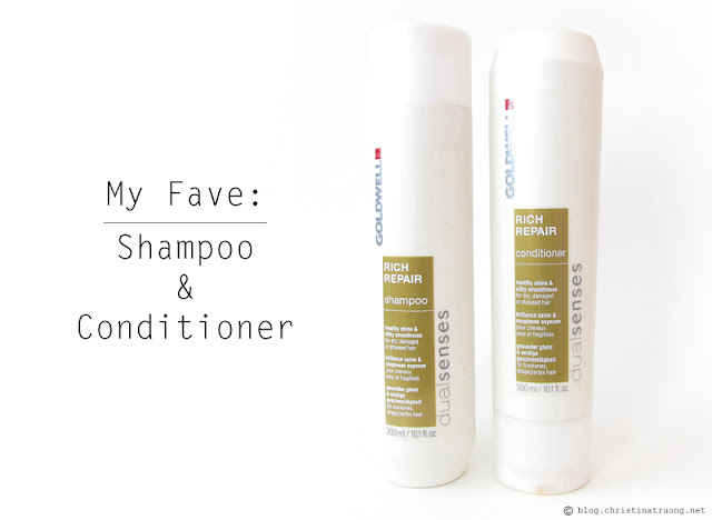 My Favourite: Shampoo and Conditioner. Goldwell dualsenses Rich Repair Collection