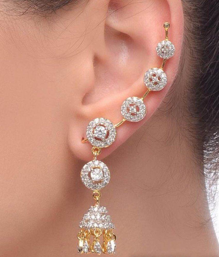 Stud Earrings Dangle Hope Slave Clip On