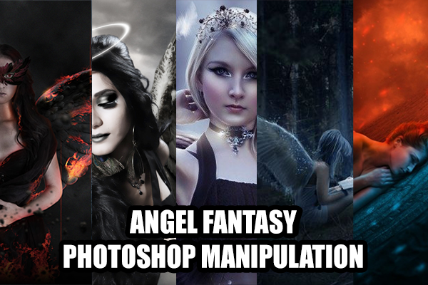 manipulasi photoshop, angel fantasy