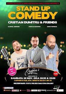 Stand-Up Comedy Sambata 26 Noiembrie Bucuresti | Doua spectacole