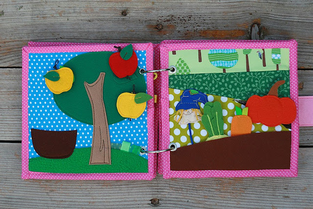 Little quiet book for Olivia Rose. Handmade busy book TomToy