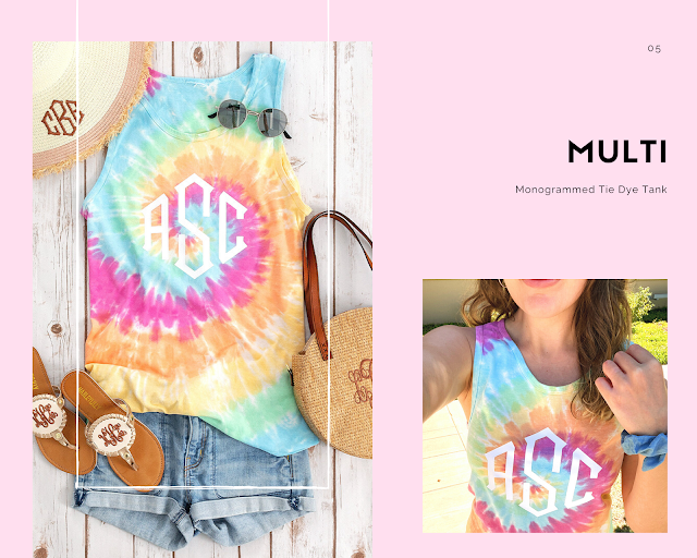 muti monogrammed tank top from marleylilly