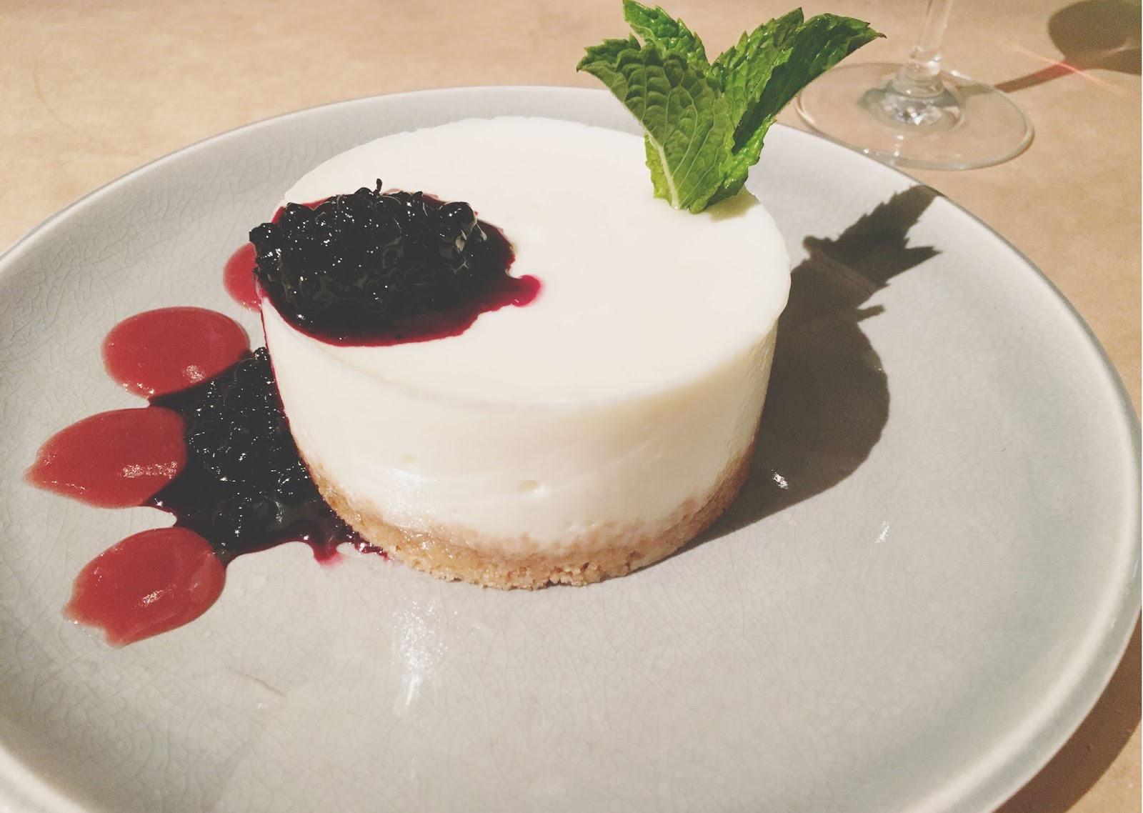 cheesecake at Celadon - a restaurant in Napa, California