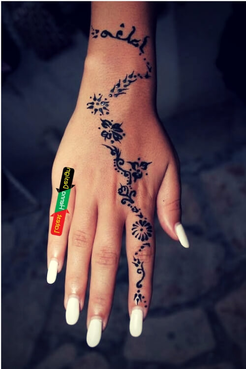 Diagonal Mehndi design: The best part of the designs is its dark appearance- Latesthennadesigns
