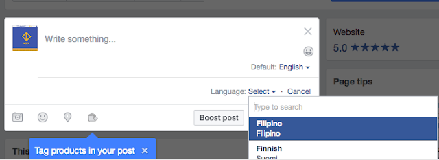 How to Post in Different Languages On Facebook Page