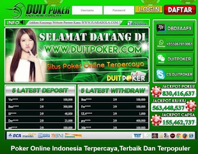 Main Poker Online Dengan Agen Semuaduit.com Untungnya Banyak