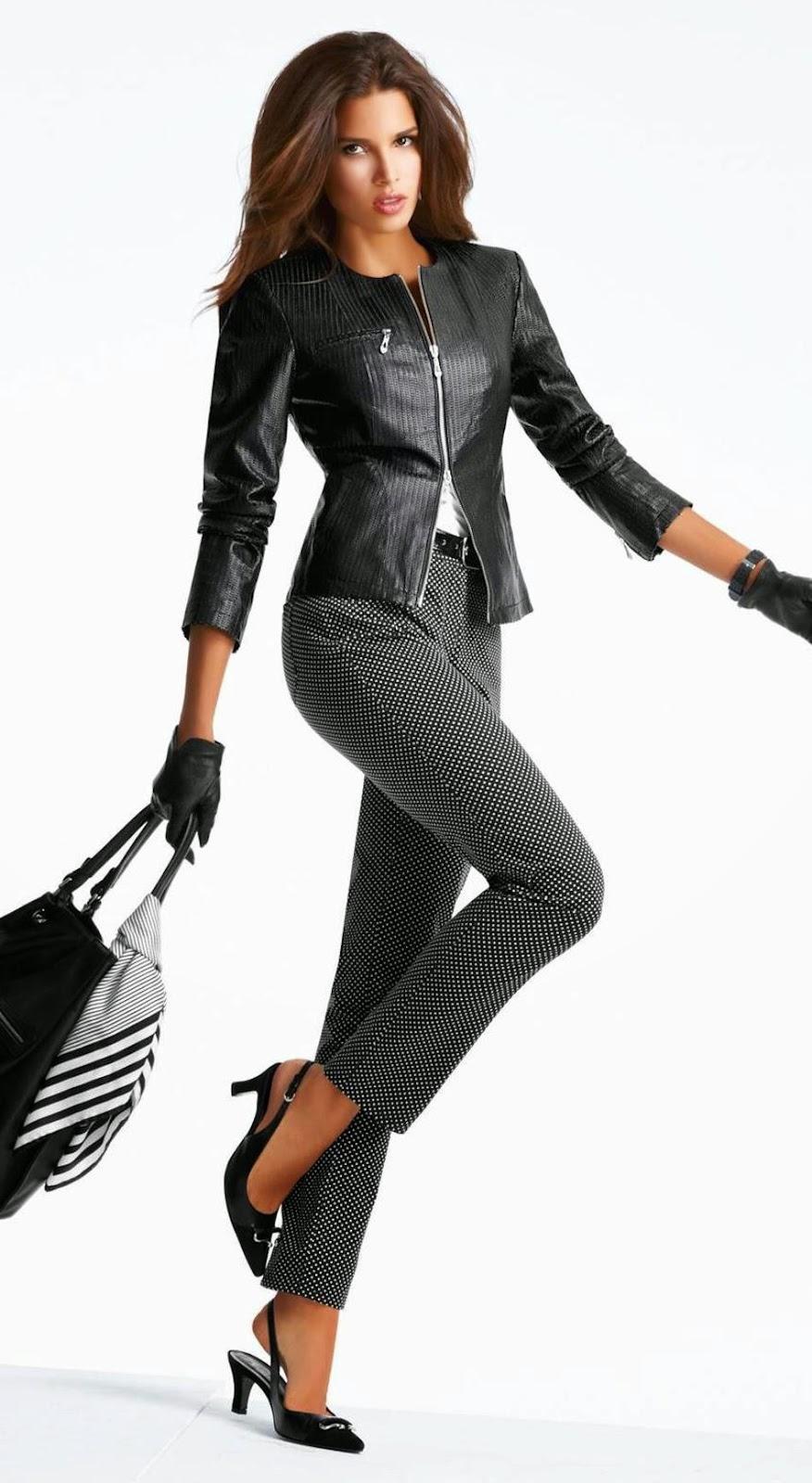 Madeleine Leather Jacket in Black