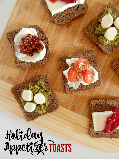 Holiday Appetizer Toasts...perfect, bite-sized treats for any holiday party! (sweetandsavoryfood.com)
