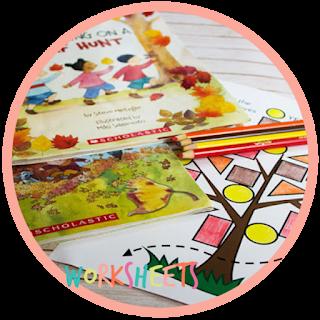 fall kindergarten book with activity