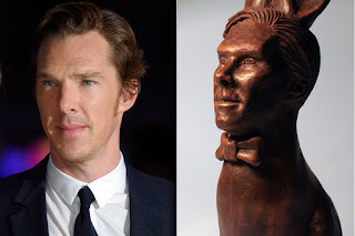 Benedict Cumberbatch face Embodied in Chocolate Rabbit
