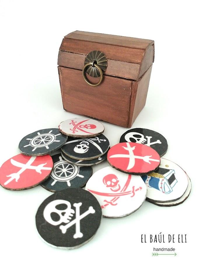 juego memoria, memory game, pirata, tesoro pirata, monedas de oro, diy