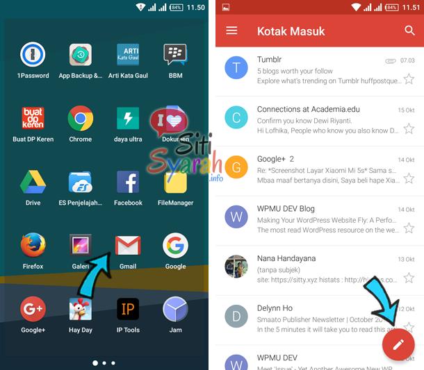 Inilah Cara Mengirim Email Melalui HP Android
