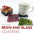 Easy Sparkly Resin and Glass Coasters Tutorial in Jewel Colors!