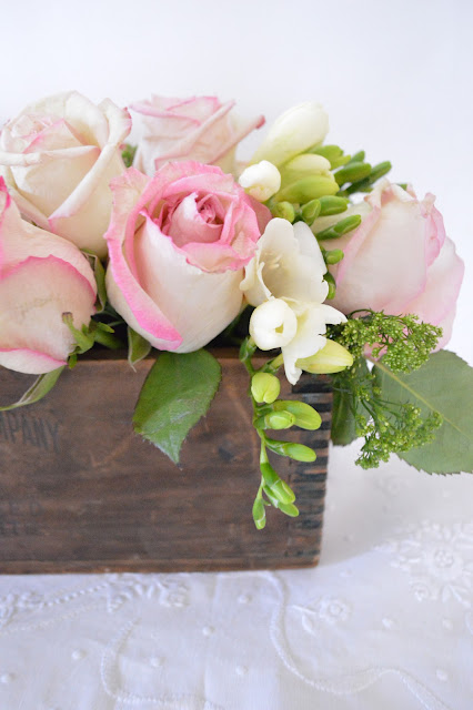 Wood Box Rustic Floral Arrangement Tutorial