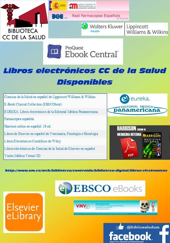Libros electrónicos de CC de la Salud disponibles en la Universidad de Murcia.