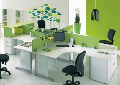 10 fotos de oficinas color verde colores en casa for Decoracion de oficinas pequenas fotos