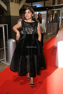 Niveda Thomas Black Sleeveless Cute Dress at 64th Jio Filmfare Awards South 2017 ~  Exclusive 098.JPG