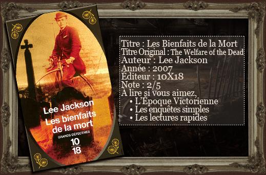 les lectures du vampire aigri les bienfaits de la mort de lee jackson. Black Bedroom Furniture Sets. Home Design Ideas