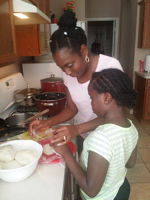 Making Nigerian Food iyan