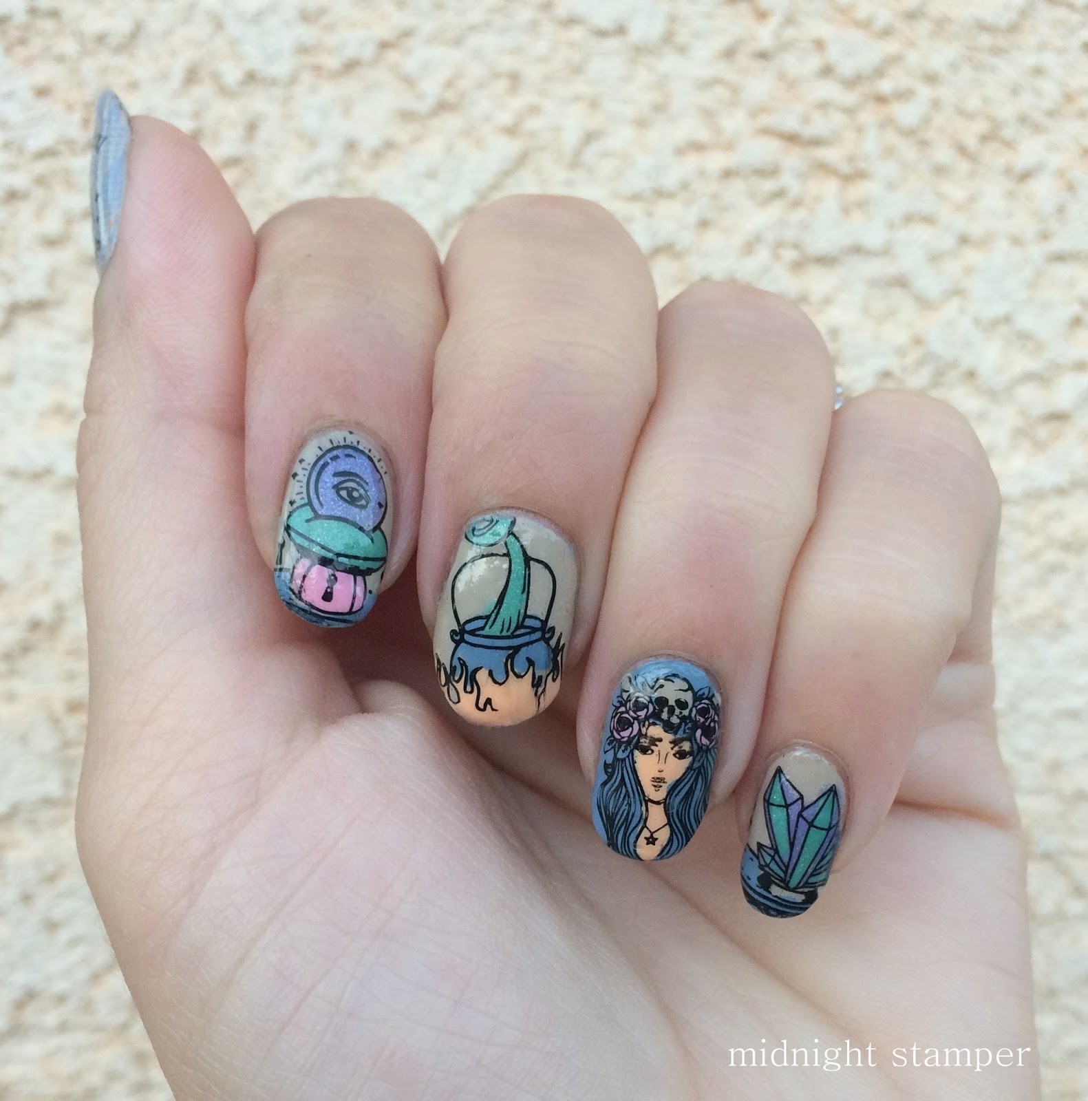Midnight Stamper: Challenge Your Nail Art: Witches