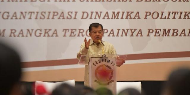 Pak Jusuf Kalla Menanggapi Prabowo Subianto Sekarang Ada Yang Miskin Ya Tapi Enggak Miskin Semua