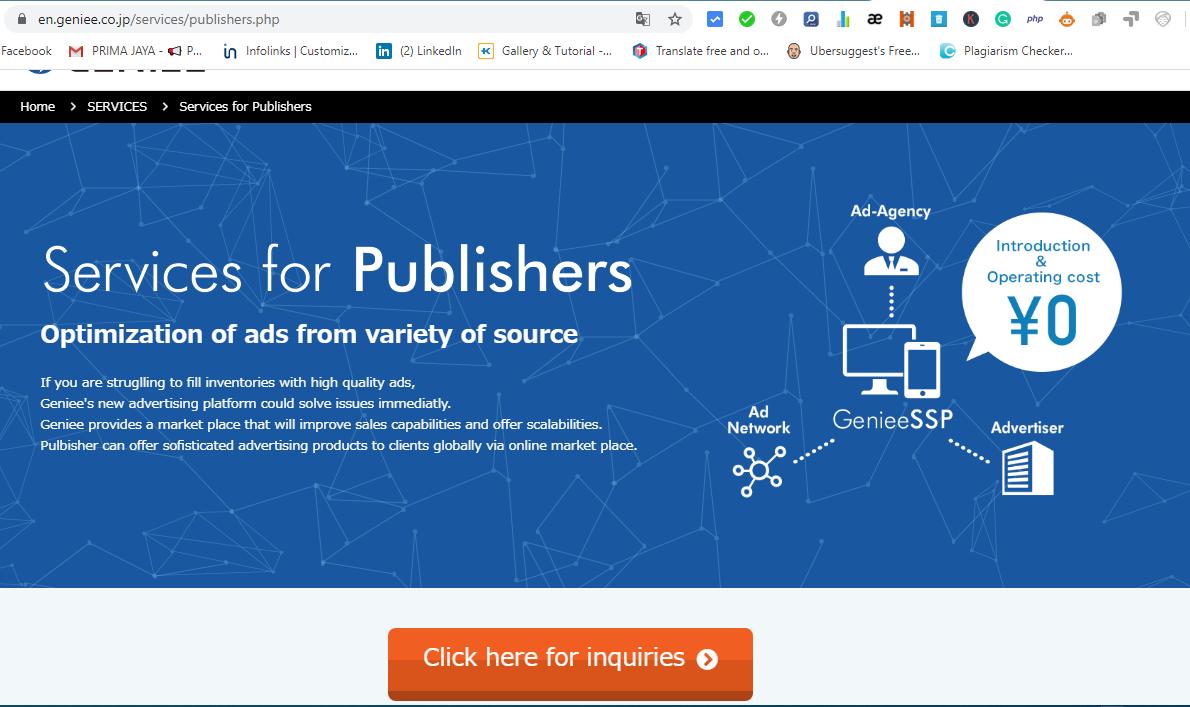 Cara Daftar Publisher Geniee Ads