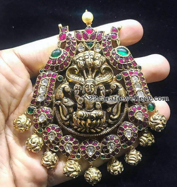 Navaratan Stones Pendants by Satyanarayana Jewels