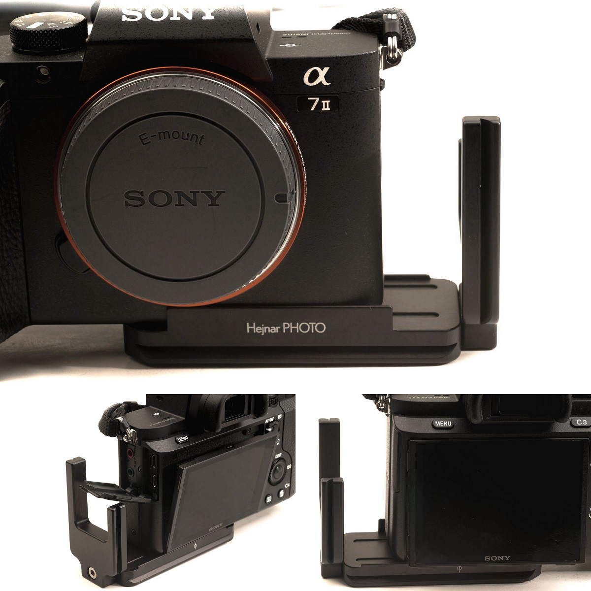 Hejnar PHOTO S-A-7II L Bracket on SONY a7II - shifted away from side